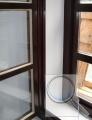 Okno, po provedení vnitřního zateplení