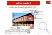 Nádražní budova, vnitřní zateplení ve stádiu projektu
